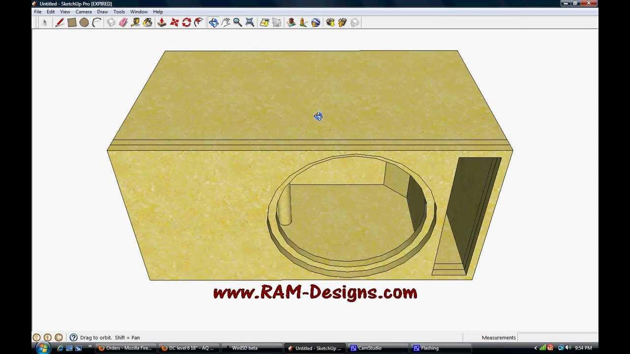 Ram Designs Dc Audio Level 3 15 Ported Box Design Youtube