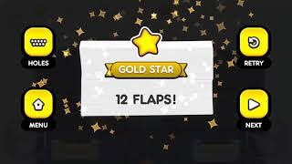 Flappy Golf 2 SHIELD LAND HOLE 1-9 Gold Star Walkthrough