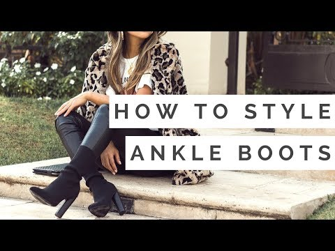 How to Style Ankle Boots | Outfit Ideas for Ankle Boots Lookbook
