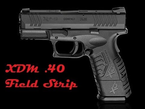 How To Field Strip an XDM .40 - YouTube