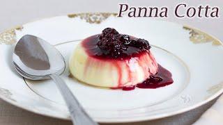 Panna Cotta c calda de Frutas Vermelhas - Sobremesa Tradicional Italiana  Receita Sandra Dias