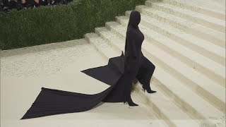 Kim Kardashian Wears Head-to-Toe Black Covering at Met Gala