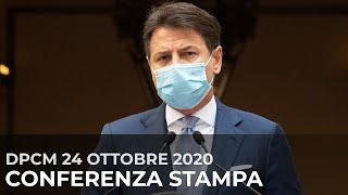 Dpcm 24 ottobre 2020,  conferenza stampa del Presidente Conte