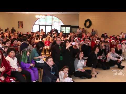 Holiday songs and poems fill the air at St. George Greek Orthodox church