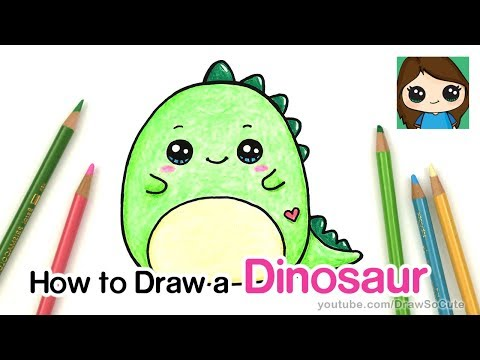 How to Draw a Baby Dinosaur Easy | Squishmallow