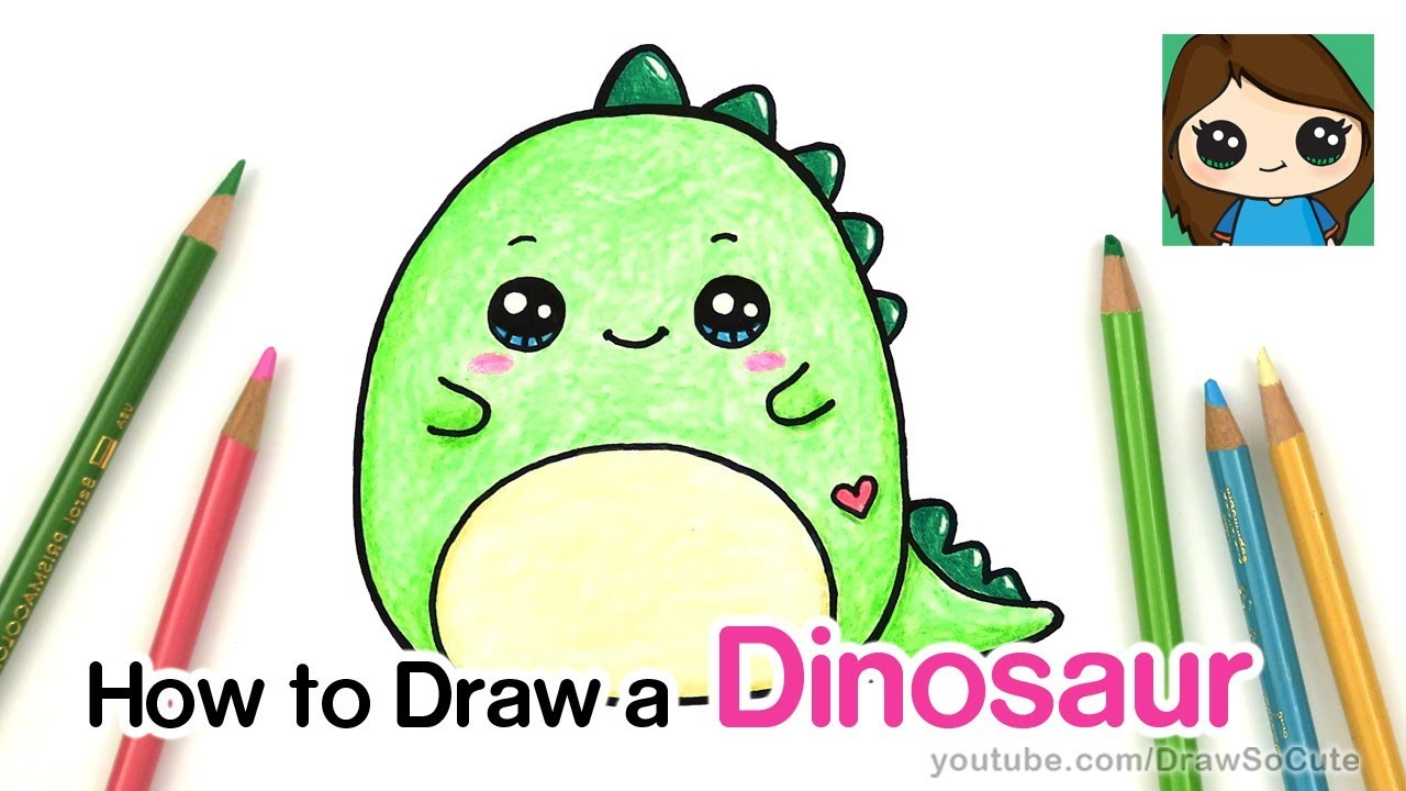 How To Draw A Baby Dinosaur Easy Squishmallow Youtube