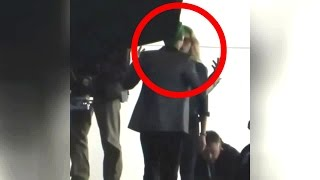 Jared Leto Joker While Fights Margot Robbie 'Suicide Squad' in Toronto, Canada  [♣VIDEO]