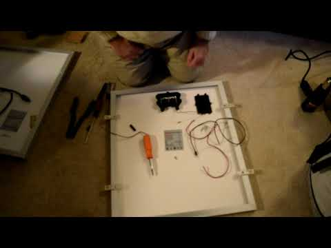 50 Watt Solar Panel Rewire - Changing from Automotive to Marine Grade wire