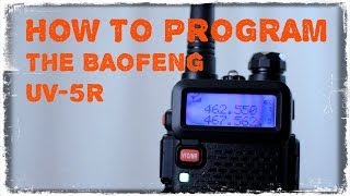 How To Program The Baofeng UV-5R(So you've got your Baofeng UV-5R and you want to program it. Look no further. Learn here how to program it using the front panel or using Chirp Software., 2014-01-26T20:47:12.000Z)