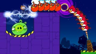 Angry Birds Collection Hacked 4 - RESCUE TEAM BIRDS AFTER FORCING PIGGIES TO ELECTRIC SHOCKER!!