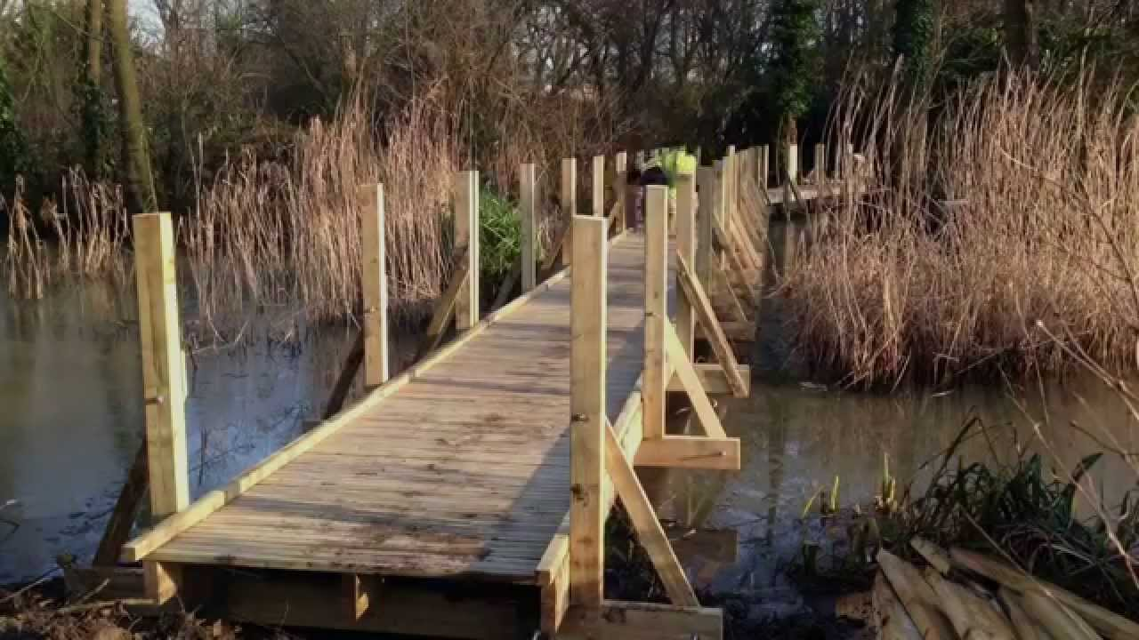 Time lapse of a boardwalk being built - YouTube