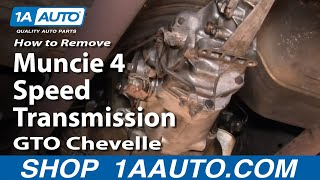 How To Remove Install Muncie 4 Speed Transmission GTO Chevelle Skylark 442 Part 1 1AAuto.com