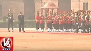 Cambodia President Hun Sen Receives Ceremonial Welcome At Rashtrapati Bhavan | V6 News