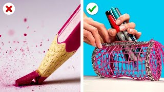 11 Fun and Useful School Supply Hacks! DIY School Craft Ideas & More