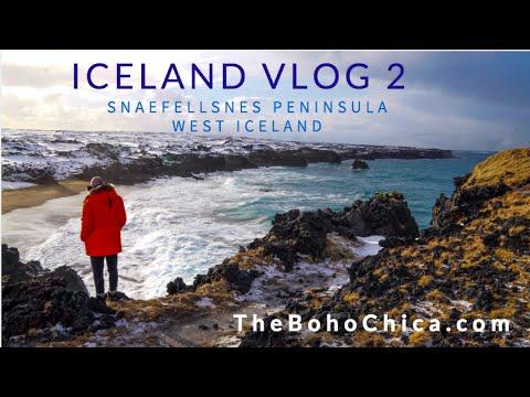 Iceland Vlog 2- Snaefellsnes Peninsula West Iceland- The Boho Chica Travel Vlog