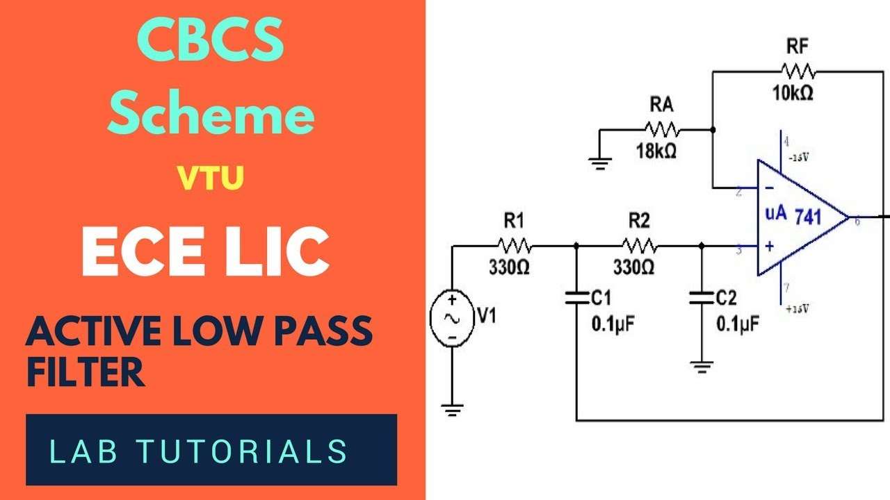 second order active low pass filter ece 4th sem lab experiment vtu