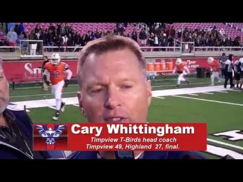 Cary Whittingham's (Timpview T-Birds coach) post-game interview.