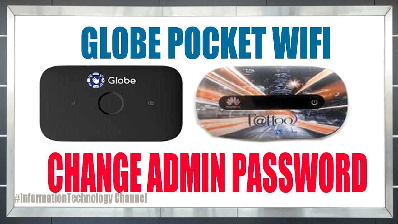 Change Admin/Login password - Globe pocket wifi 2019