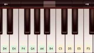 تعليم عزف اغنية أنت ملك   على بيانو الجوال 🎹