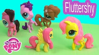 DIY My Little Pony Fluttershy Inspired MLP LPS Littlest Pet Shop Fun Toys Clay Custom Craft Video