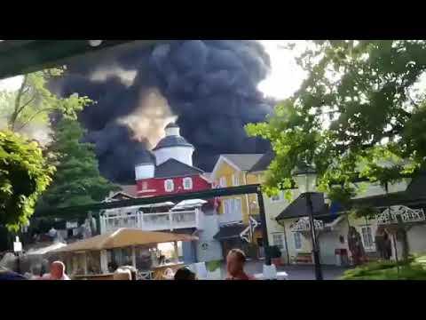 Massiver Brand im Europa Park Rust - Massenpanik Park evakuiert (26.05.2018)