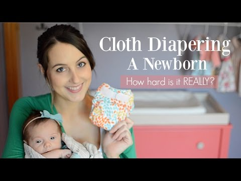 Cloth Diapering a Newborn - How Hard Is It REALLY? ♡ NaturallyThriftyMom