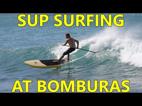 SUP Surfing at Bomburas Ala Moana Hawaii with Robert Stehlik