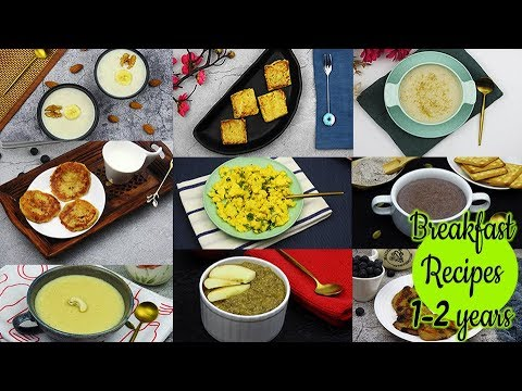 9 Breakfast Recipes For 1-2 Year Baby/Toddler | Quick & Easy Breakfast Recipes For Kids | Baby Food