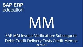 SAP MM Fatura kontrolü Sonraki Banka Kredi Teslimat Ücreti Kredi bölüm 1 numaradaki Notlar
