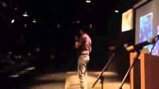 Steven T. Licardi performs at Slam Poetry, SBU
