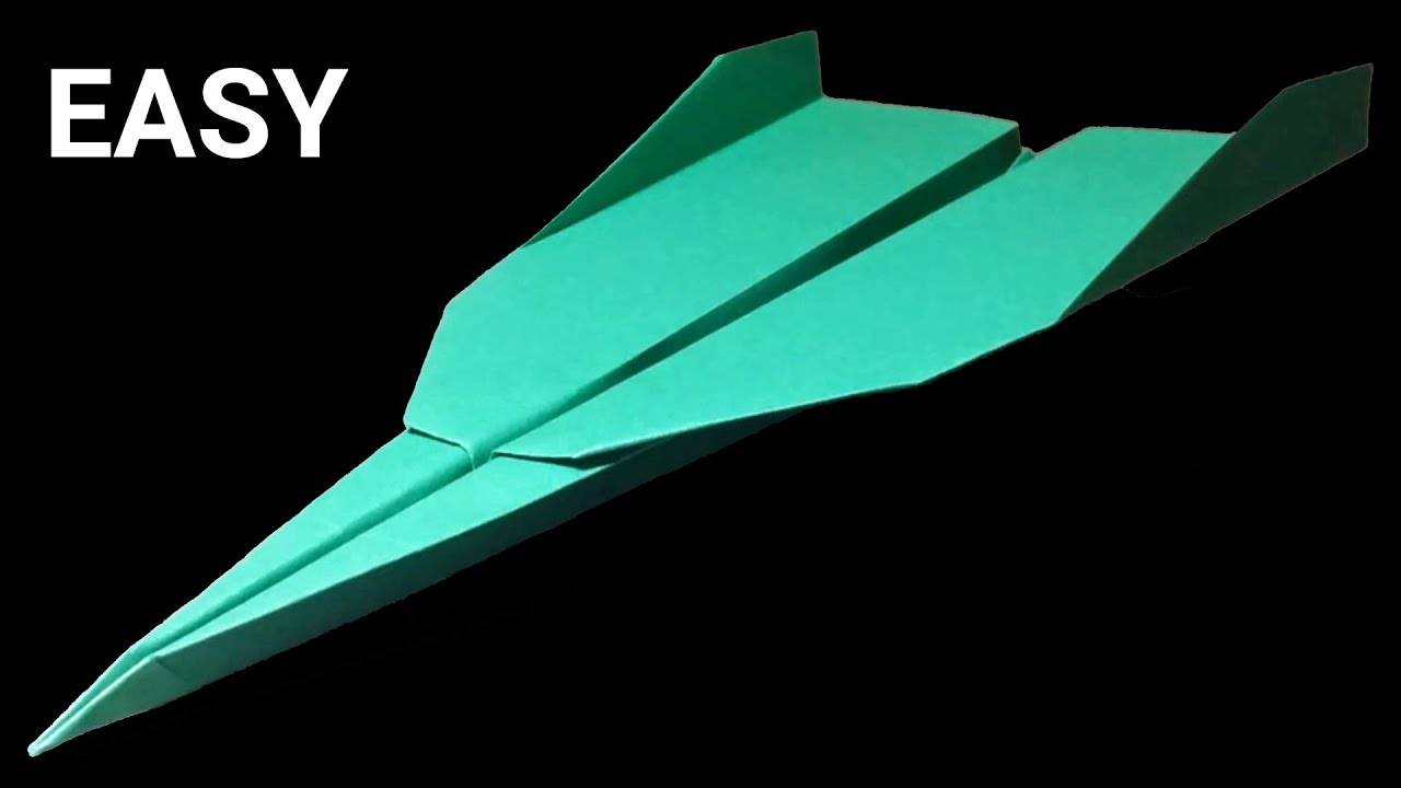 Best Paper Airplane in the World - How to make a paper airplane - paper  planes for distance