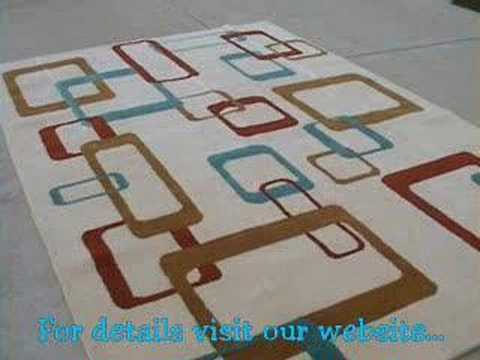 Mid Century Modern Area Rug Custom Made 6x9 Youtube