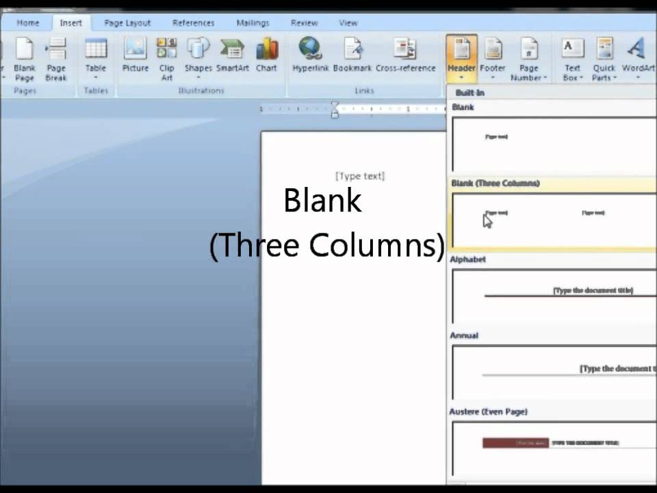 how to change number in header in word 2007