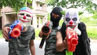 MASK Nerf War : Special Warrior Nerf Guns Fight Bandits Dangerous Criminals Captain Mask 2