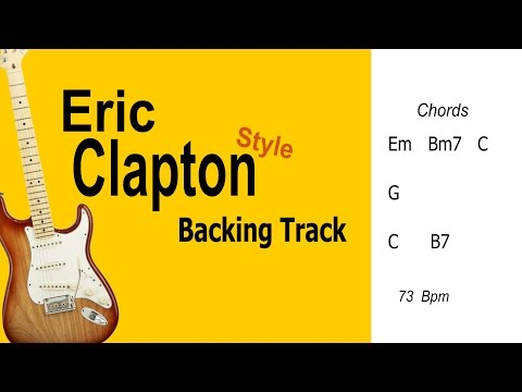 Ballad Eric Clapton Style Guitar BackingTrack Em HighQuality