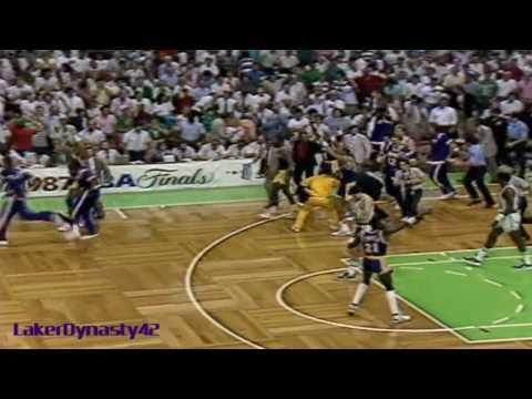 "Magic Johnson 1987 Finals: Gm 4 vs. Boston Celtics, ""Skyhook Game"""