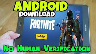 Fortnite Android Download | No Human Verification | No invite code required !!