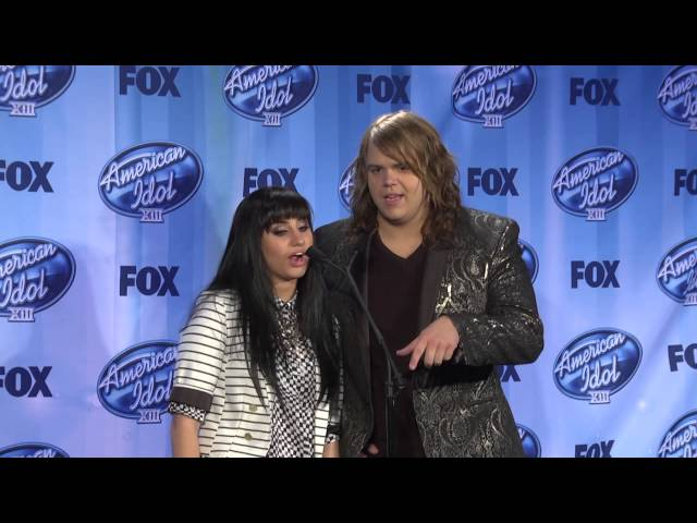 Caleb Johnson and Jena Irene Backstage at The American Idol Finale FULL INTERVIEW 1