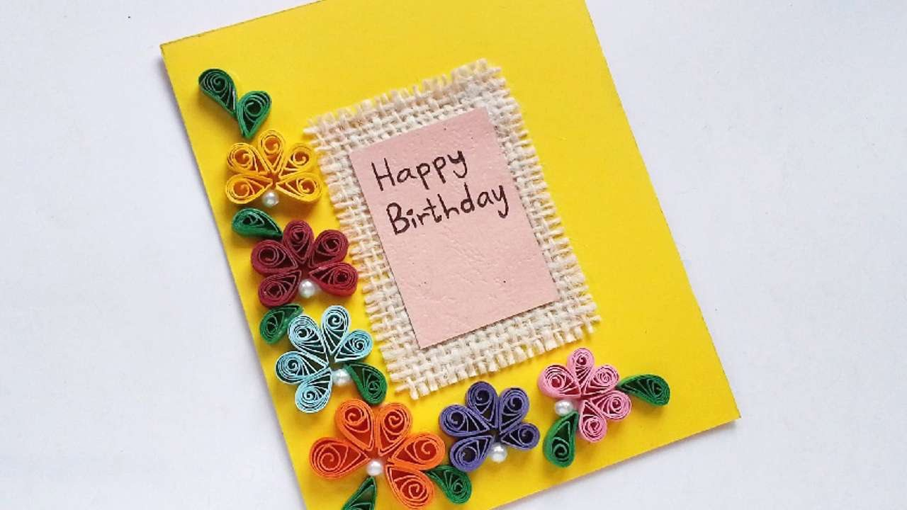 How To Create A Simple Quilled Birthday Card