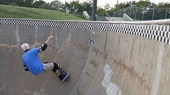 Trying to hit tile in the skateboard bowl