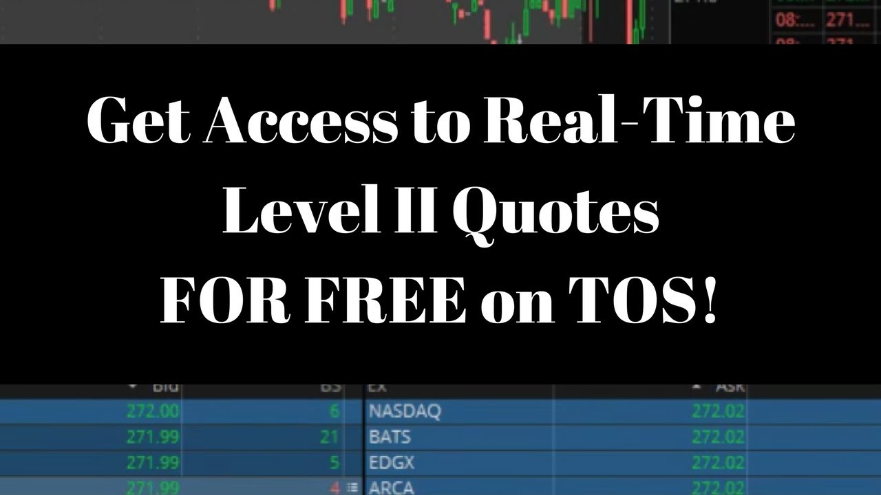 How to Get Real-Time Data & Level II Quotes on ThinkorSwim - Live Small  Account Day Trading