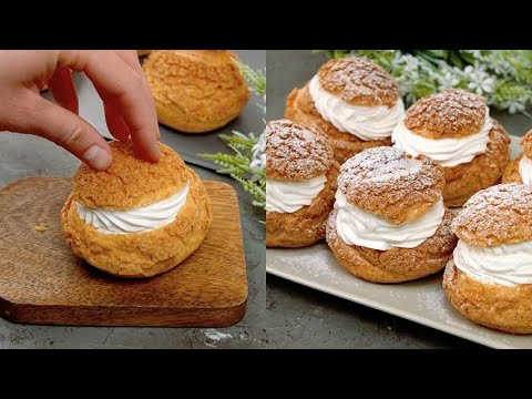 Choux craquelin the recipe for the beautiful and delicious desserts