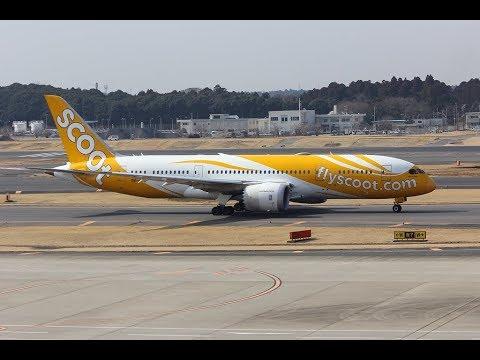 Airliners at Tokyo Narita Airport 27.02.18
