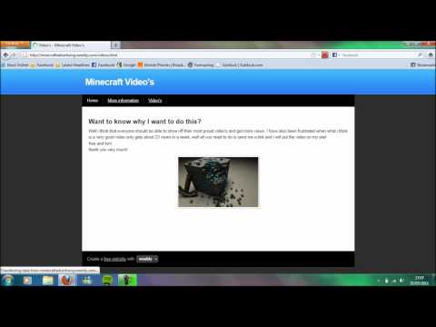 Minecraft - My Video Sharing Website!