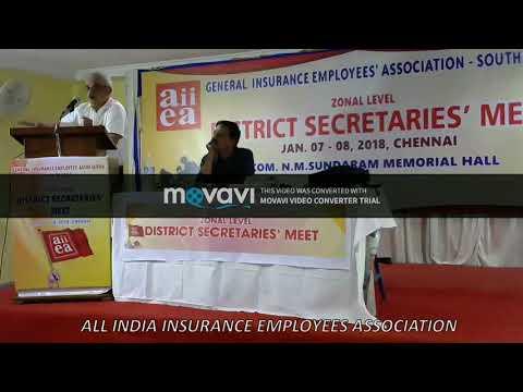 Com. V.Sridhar, SR Deputy Editor, Frontline in GIEA