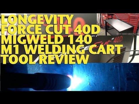 Longevity Force Cut 40D, Migweld 140, M1 Cart Tool Review -EricTheCarGuy