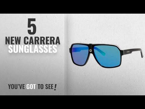 top-10-carrera-sunglasses-[-winter-2018-]:-carrera-carrera-33/s-ca33s-aviator-sunglasses,-black