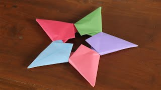 How to make Origami Paper ⭐Star Flower⭐ | By the design of star | 5 MINUTE CRAFTS VIDEOS