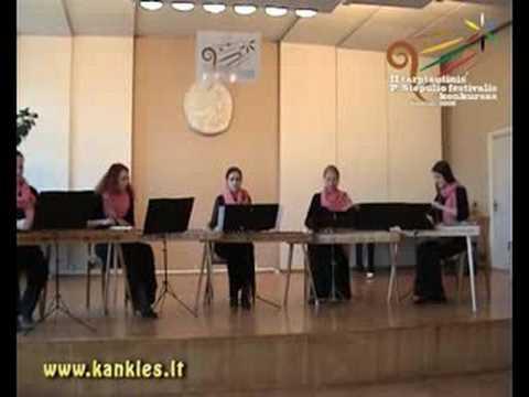 Performing Kokles ensemble of Jāzepa Vītola Latvian Academy of Music
