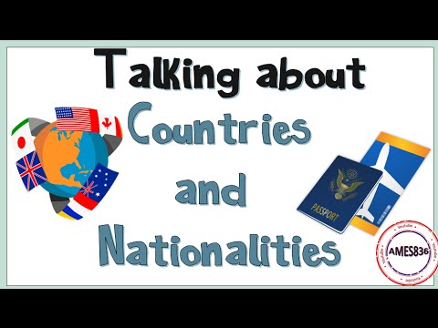 Talking About Countries And Nationalities : English Language